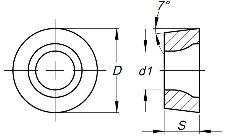 Płytka tokarska RNMG rysunek