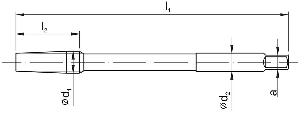 Gwintownik maszynowy długi NGRf