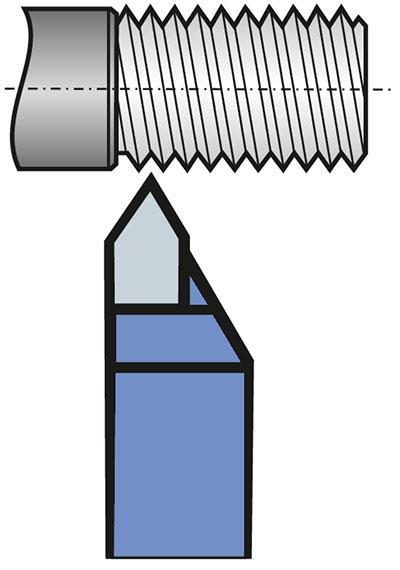 Nóż tokarski do gwintów zewnętrznych
