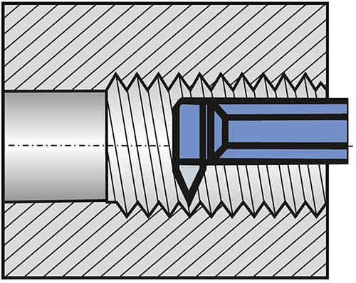 Nóż tokarski do gwintów wewnętrznych