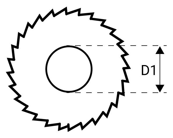 Frez piłkowy NFTe otwór mocujący