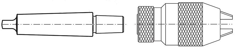 Uchwyt wiertarski z trzpieniem na stożku Morse'a
