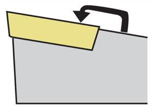 Mocowanie C płytki noża tokarskiego składanego