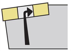 Mocowanie P płytki noża tokarskiego składanego