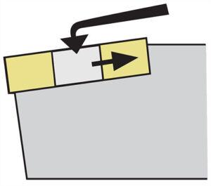 Mocowanie T płytki noża tokarskiego składanego