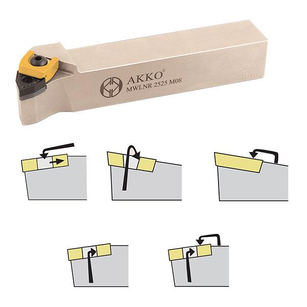 Rodzaje mocowań w nożach tokarskich