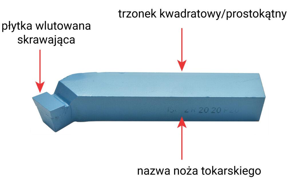 budowa noża tokarskiego NNZc - bociana